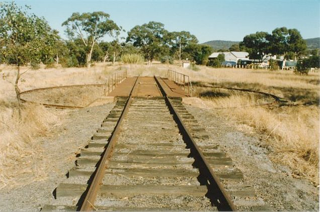 The turntable, looking towards the end of the loco siding.
