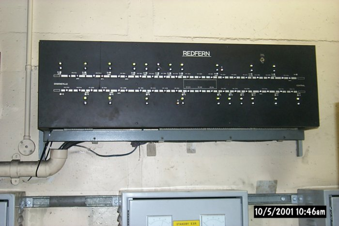 A view of the indicator panel serving platform 12.