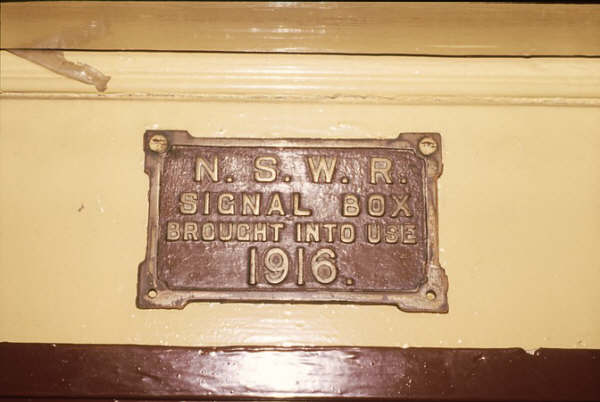 Scarborough Box was opened in 1916 and by tradition a plate was placed over the door. These were sought after by many a collector. This one remains secure in 1986.
