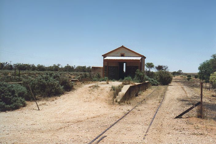 The abandoned station building at Silverton.