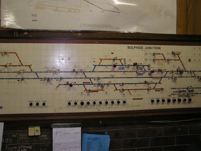 Part of the large control panel at Sulphide Junction.