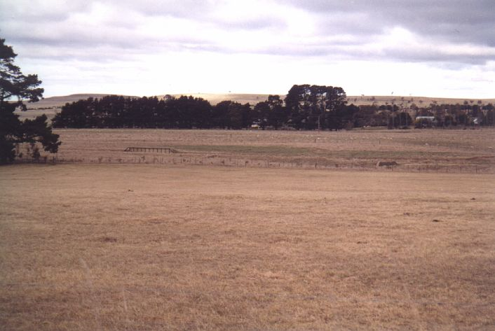 The view looking across towards Taralga.  The loading bank is visible on