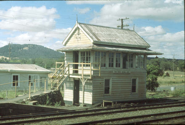 The Rock Signal Box was a classic example of a NSWGR Signal Box down to the ubiquitous finials.