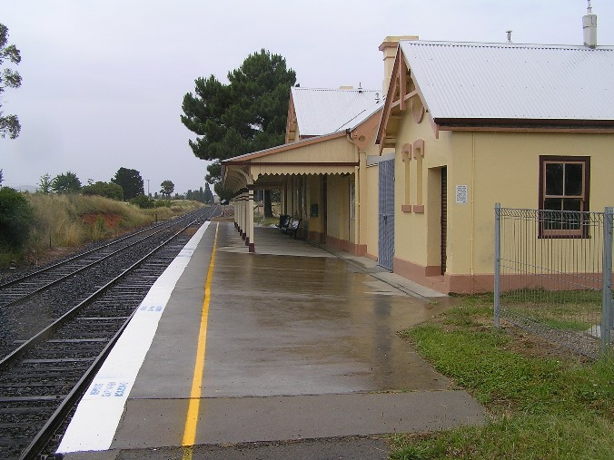 The view looking south along the platform.
