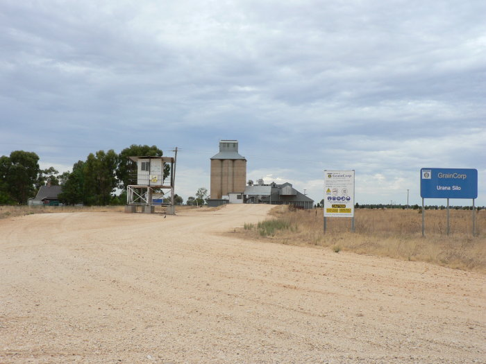 The road entrance to the silo facility.