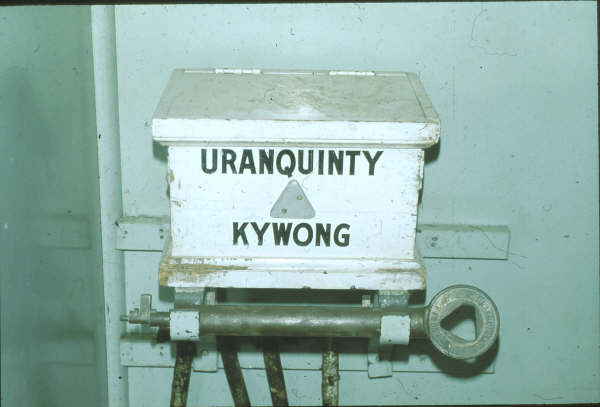 Uranquinty was the junction for the Kywong branch which was closed 5 years earlier, but the staff and ticket box still remained in the Signal Box.