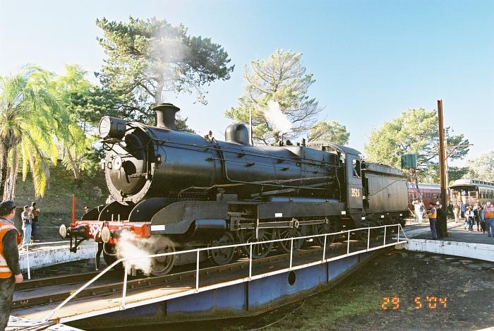 The 60ft turntable is operational and is being used to turn preserved