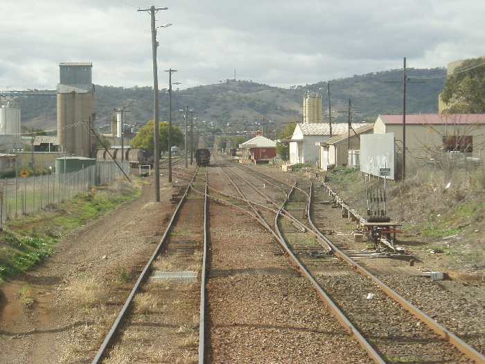 West Tamworth Yard looking in the Down direction from the Trackfast Freight Centre.