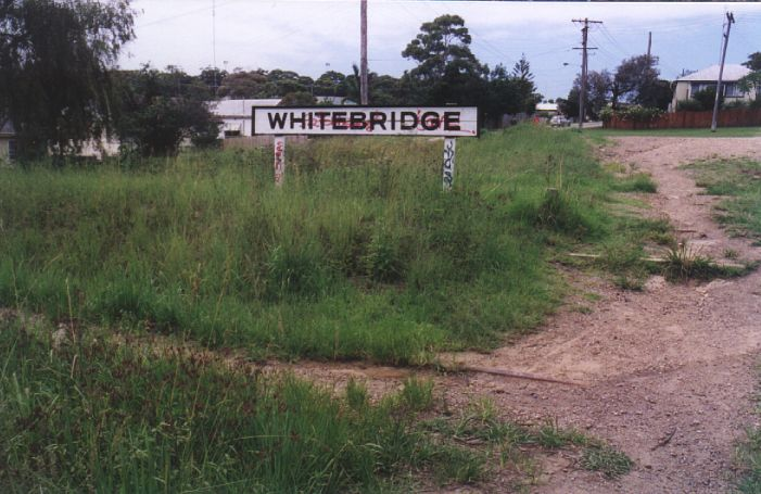 All that remains of Whitebridge is the station sign.