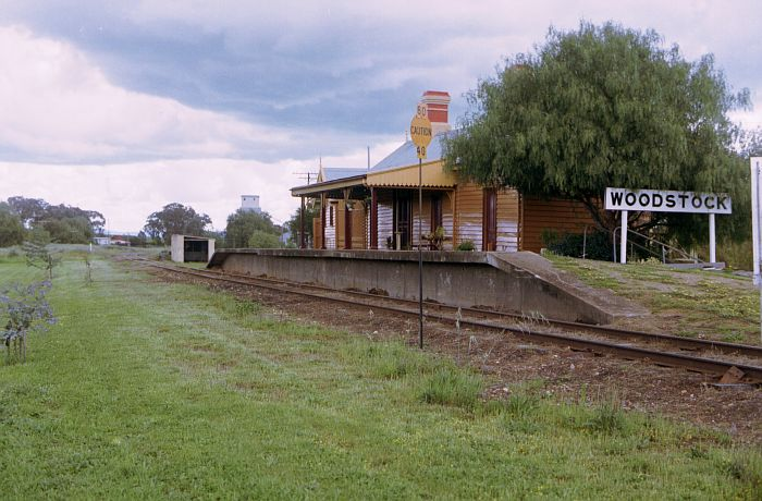 The view of the well-maintained station, looking south towards Cowra.