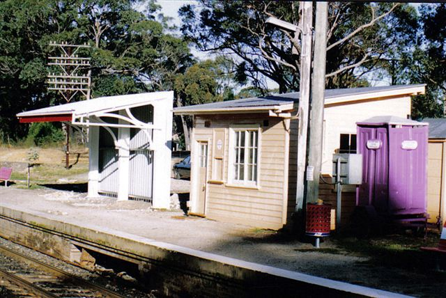 A view of the signal box on the up platform.