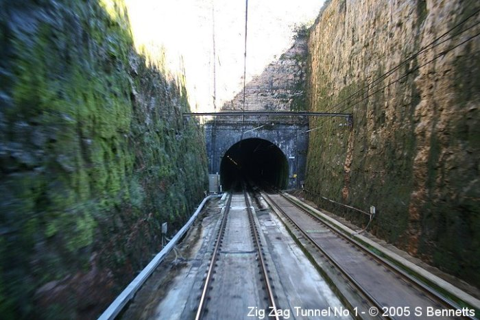 The Up portal of Zig Zag No 1 tunnel.